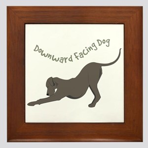 Downward Dog Framed Tile