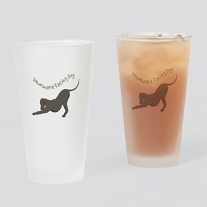 Downward Dog Drinking Glass