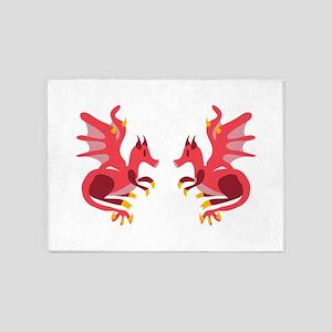 Twin Dragons 5'x7'Area Rug