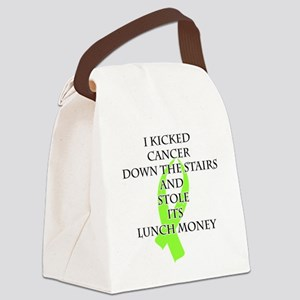 Cancer Bully (Lime Green Ribbon) Canvas Lunch Bag