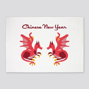 Chinese New Year 5'x7'Area Rug