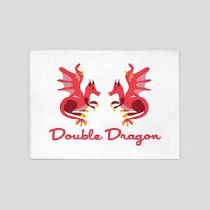 Double Dragon 5'x7'Area Rug
