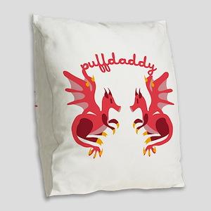 Puffdaddy Burlap Throw Pillow
