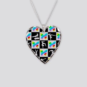 GRACEFUL GYMNAST Necklace Heart Charm