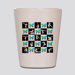 GRACEFUL GYMNAST Shot Glass