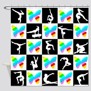 GRACEFUL GYMNAST Shower Curtain