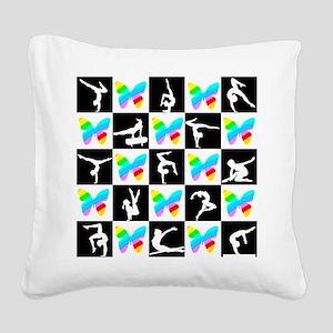 GRACEFUL GYMNAST Square Canvas Pillow