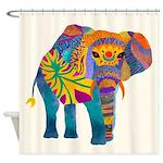Whimsical Elephant Shower Curtain