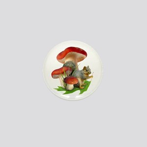 Mushroom Squirrel Mini Button