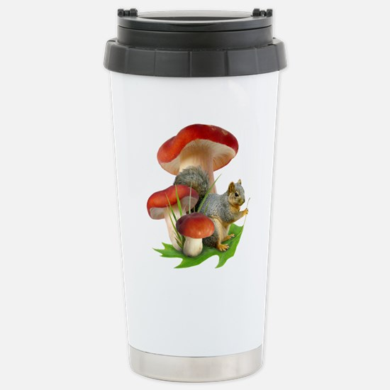 Mushroom Squirrel Stainless Steel Travel Mug