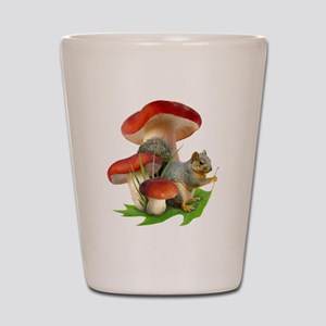 Mushroom Squirrel Shot Glass