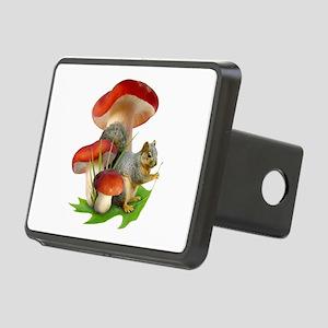 Mushroom Squirrel Rectangular Hitch Cover
