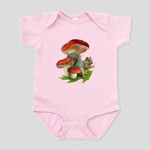 Mushroom Squirrel Infant Bodysuit