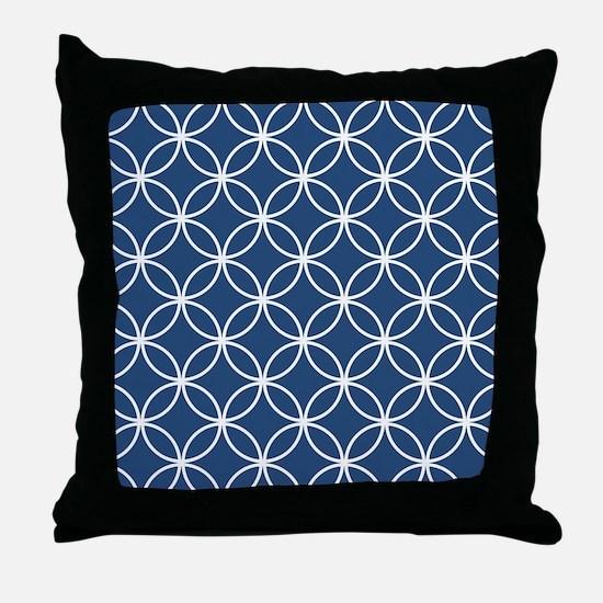 Cute Navy blue Throw Pillow