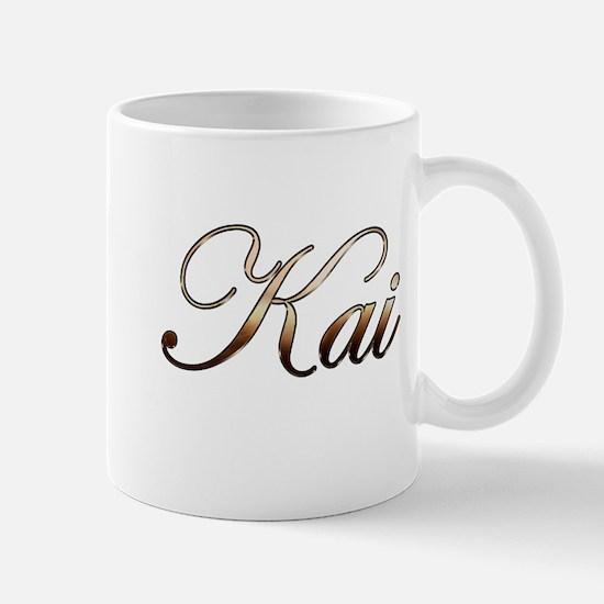 Gold name Kai Mugs