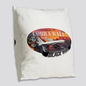 RC-135 Cobra Ball Burlap Throw Pillow