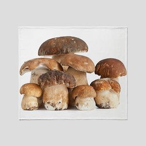 Boletus Edulis mushroom Throw Blanket