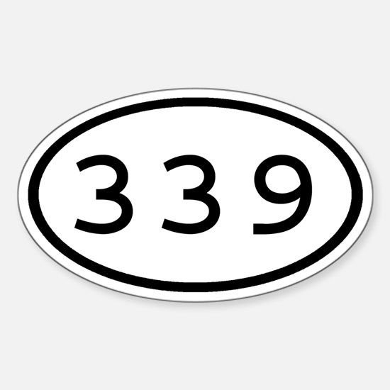 339 Oval Oval Decal