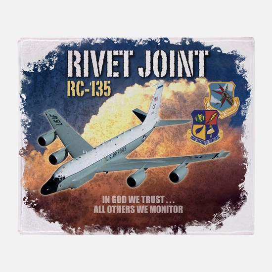 RC-135 Rivet Joint Throw Blanket
