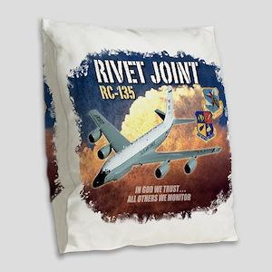 RC-135 Rivet Joint Burlap Throw Pillow