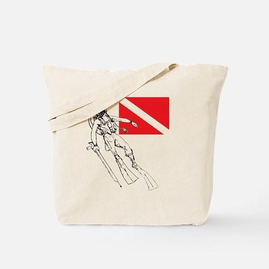 Diver Down Tote Bag