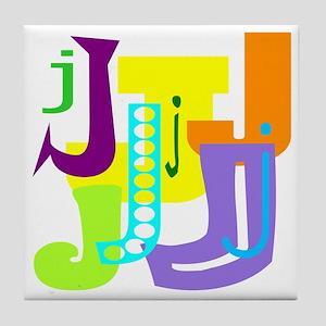 Initial Design (J) Tile Coaster