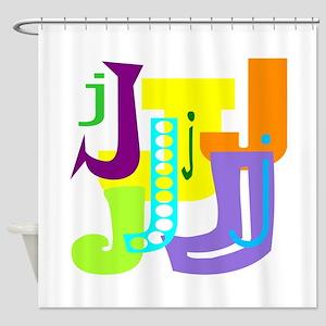 Initial Design (J) Shower Curtain