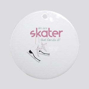 Skater Lands It Ornament (Round)