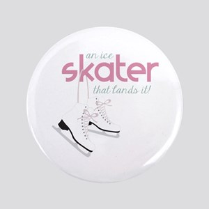 "Skater Lands It 3.5"" Button"