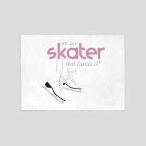 Skater Lands It 5'x7'Area Rug