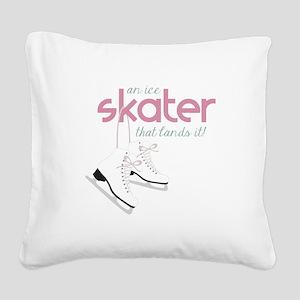Skater Lands It Square Canvas Pillow