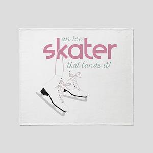Skater Lands It Throw Blanket