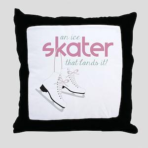 Skater Lands It Throw Pillow