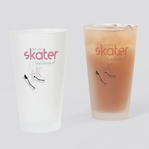 Skater Lands It Drinking Glass