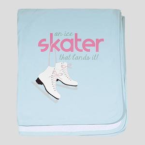 Skater Lands It baby blanket