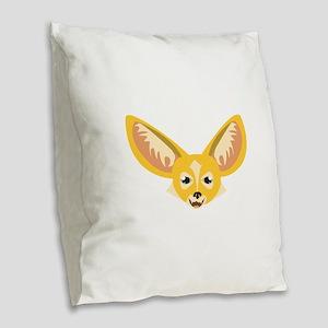 Big Ears Burlap Throw Pillow