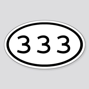 333 Oval Oval Sticker