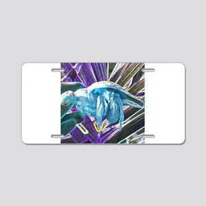 blue hermit crab Aluminum License Plate