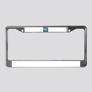 blue hermit crab License Plate Frame