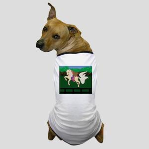 Breast Cancer Awareness Race Horse  Dog T-Shirt