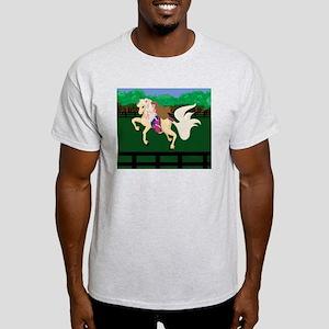Breast Cancer Awareness Race Horse  Light T-Shirt