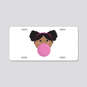 Bubble Gum Aluminum License Plate