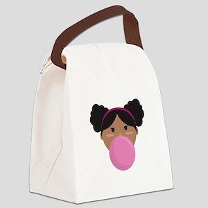 Bubble Gum Canvas Lunch Bag