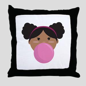 Bubble Gum Throw Pillow