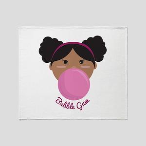 Bubble Gum Princess Throw Blanket