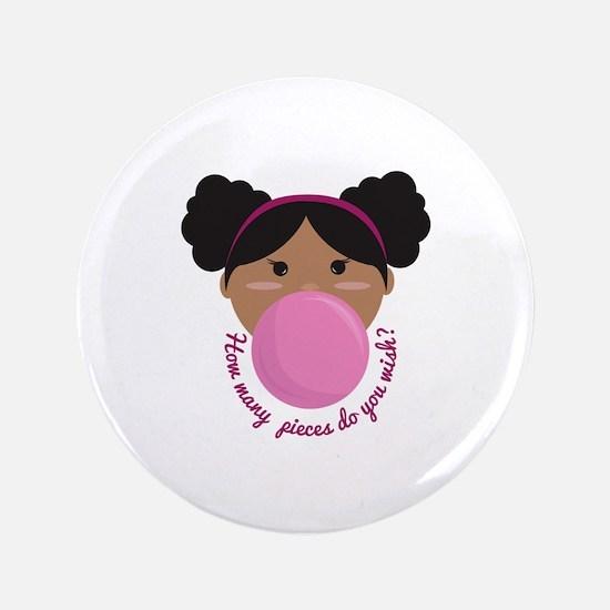 """Bubble Gum Wish 3.5"""" Button"""