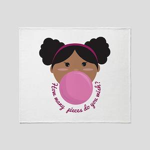 Bubble Gum Wish Throw Blanket