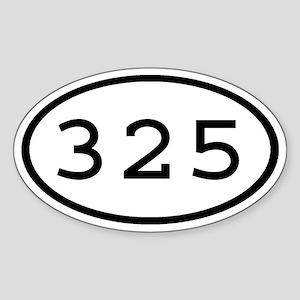 325 Oval Oval Sticker