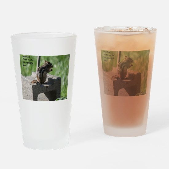 Funny Chipmunks Drinking Glass