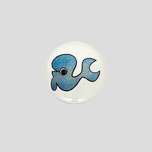 Cute Baby Whale Mini Button